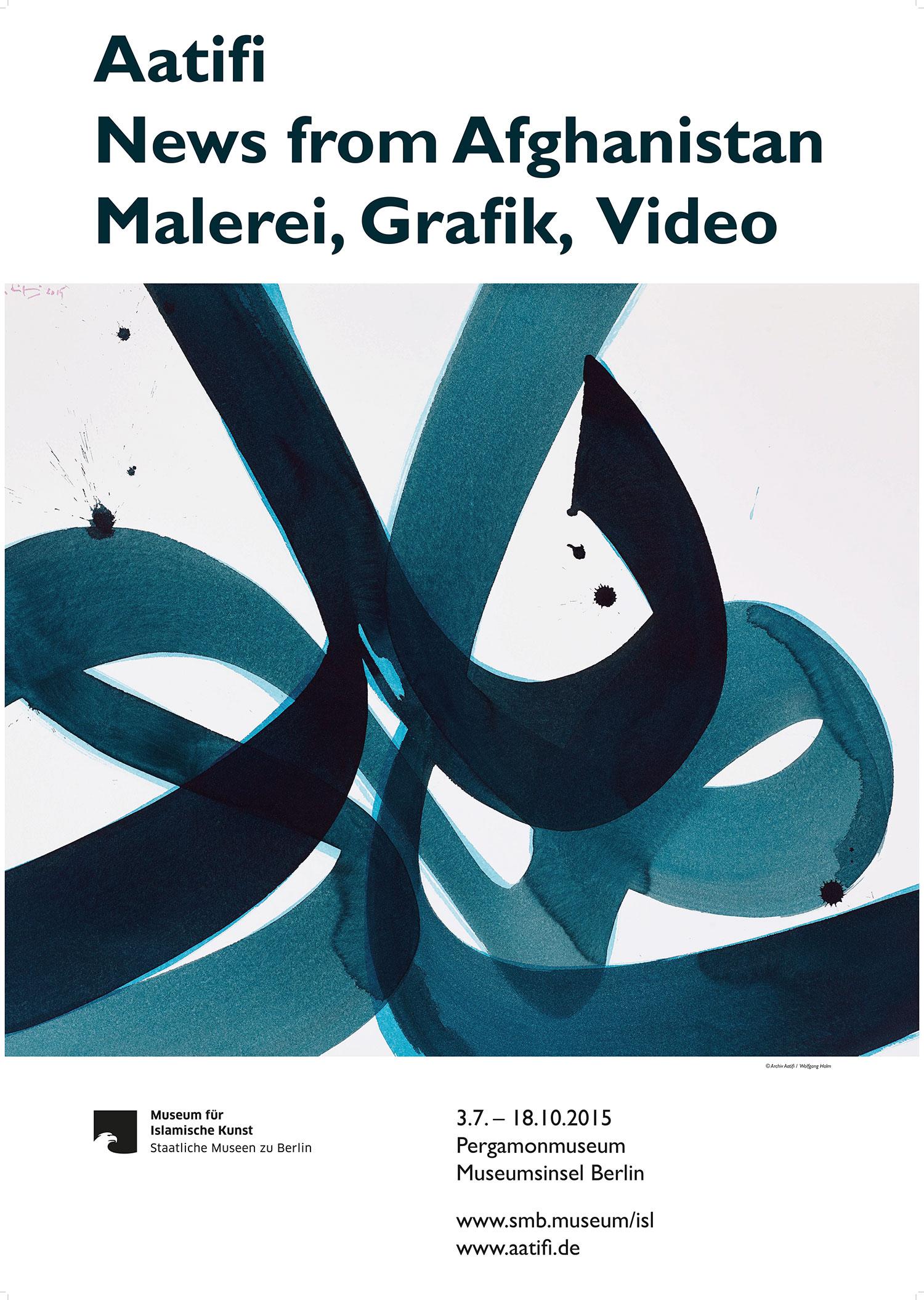 Ausstellung Aatifi Berlin Plakat