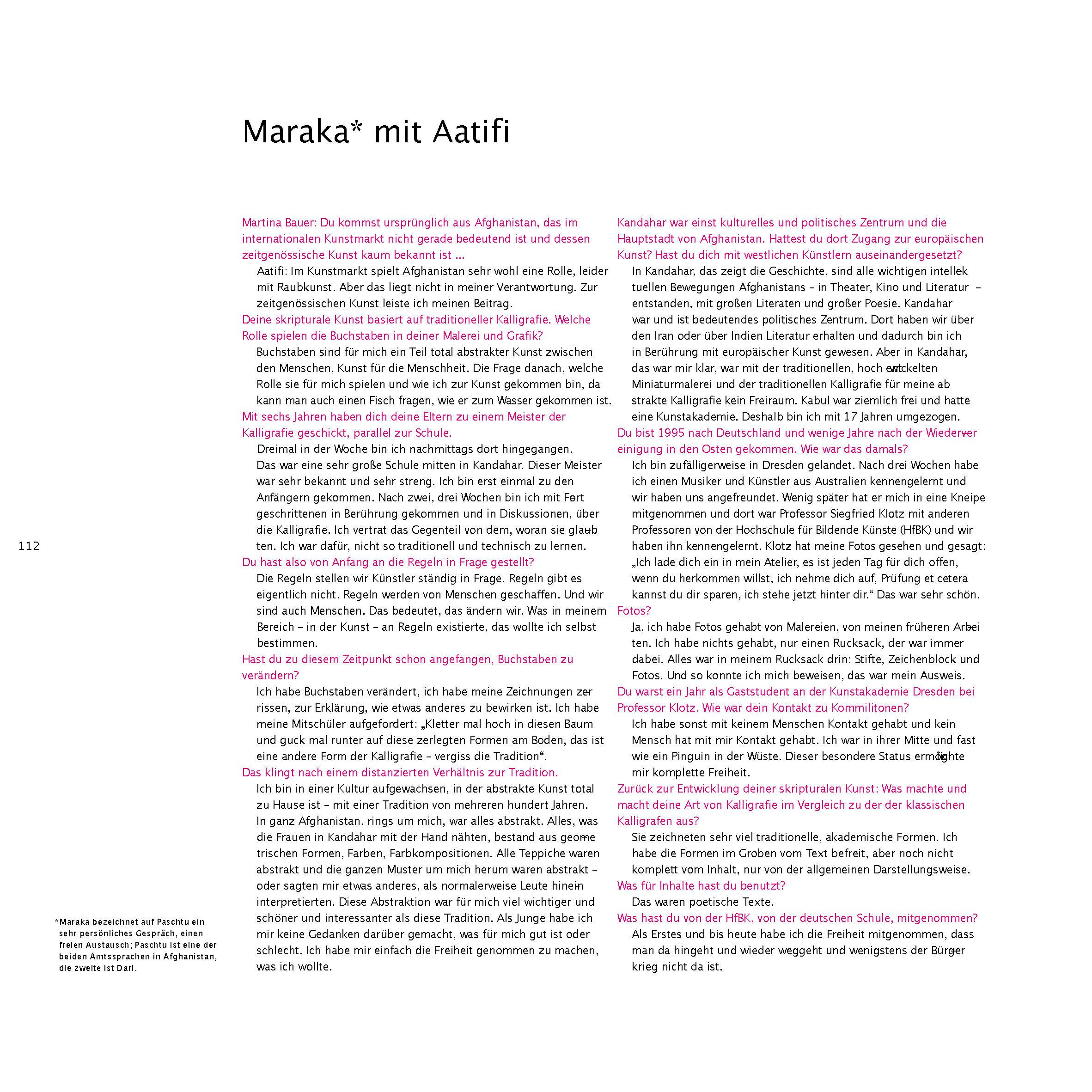 Aatifi Ausstellungskatalog Maraka with Aatifi deutsch