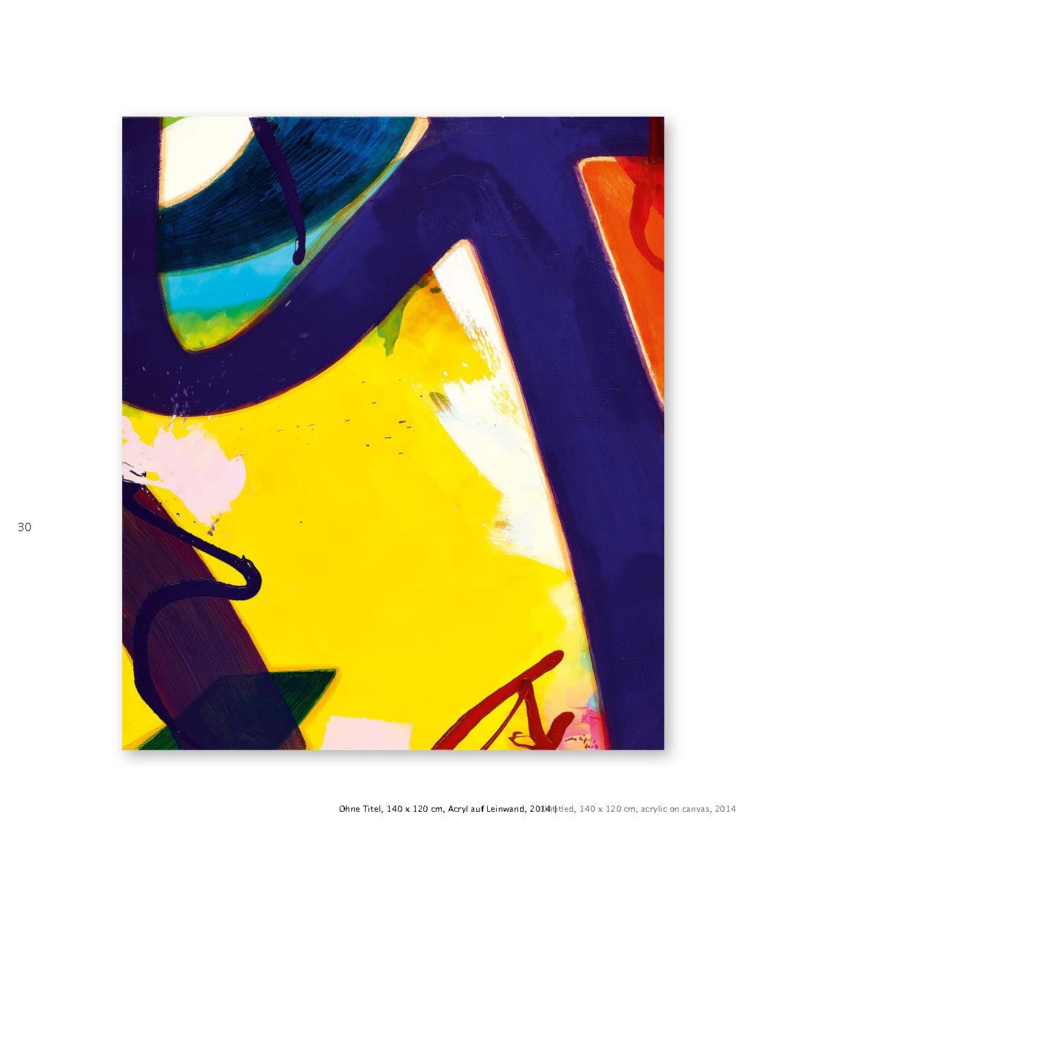 Aatifi Ausstellungskatalog Gemälde Öl auf Leinwand 2014