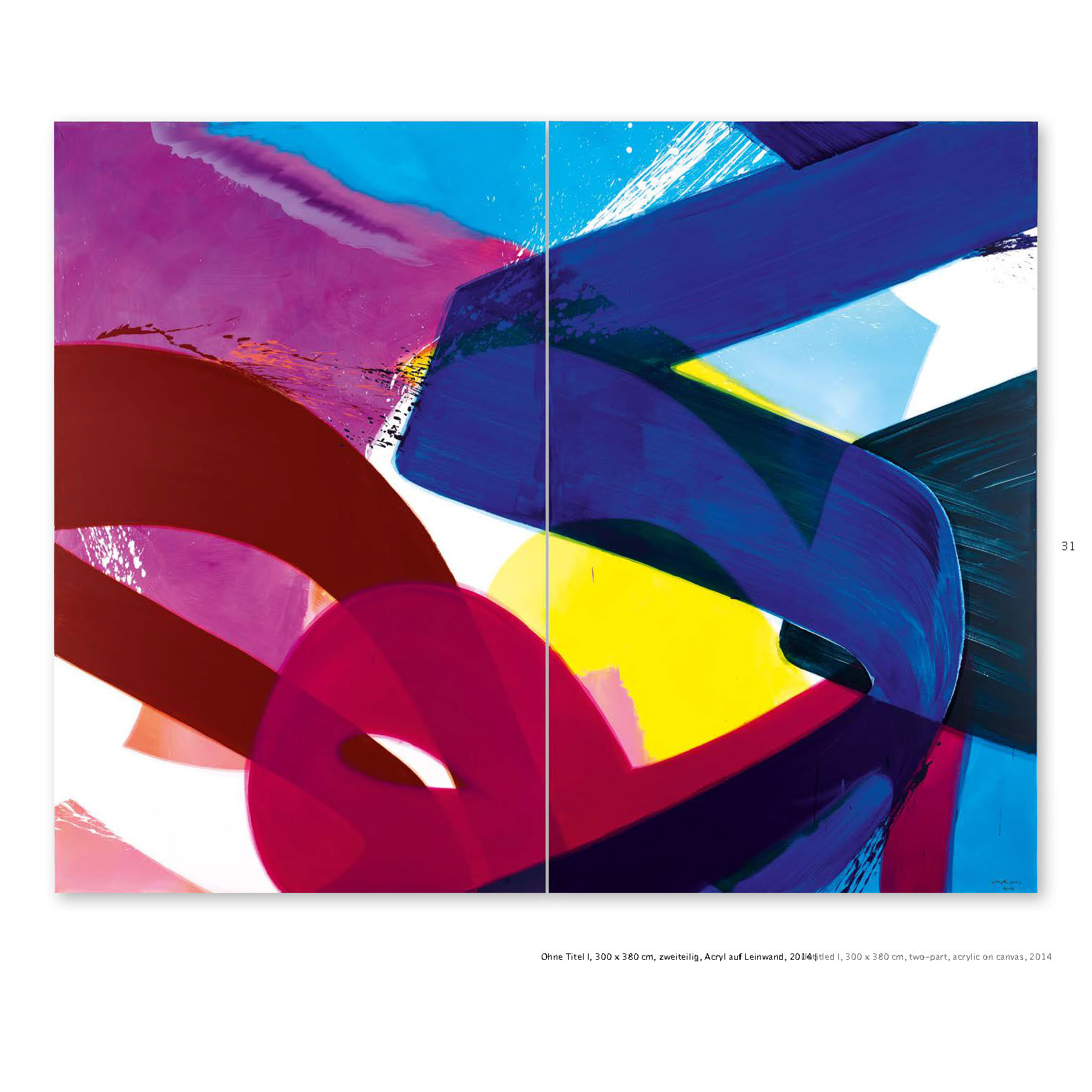 Ausstellungskatalog Aatifi Malerei Acryl auf Leinwand 2014