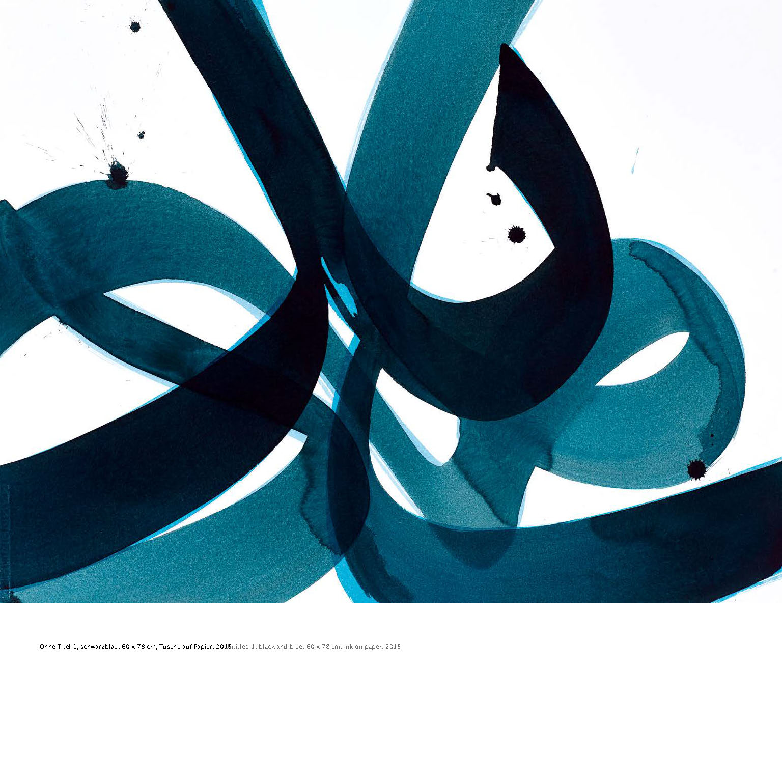 Ausstellungskatalog Aatifi Doppelseite Tusche auf Papier 2015