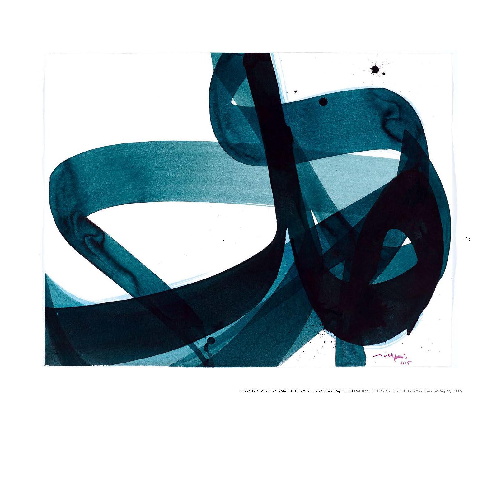 Ausstellungskatalog Aatifi Tusche auf Papier 2015
